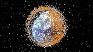 Visualización de la basura espacial en 2015