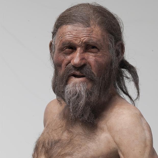 Reconstrucción de Ötzi, el «hombre de hielo»
