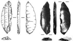 Se han encontrado aparentes puntas de flecha y lanza
