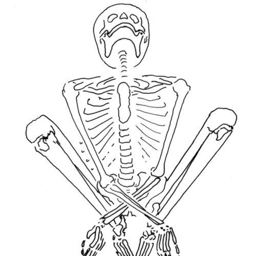 Algunos esqueletos parecían tener las manos atadas en el momento de su muerte