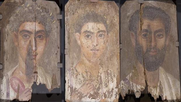 Retratos de momias estudiados