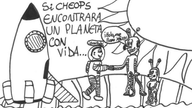 Los dibujos de los ni os espa oles que viajar n al espacio - Dibujos infantiles del espacio ...