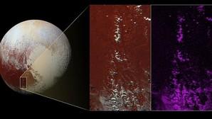 Descubren una capa de «nieve exótica» en Plutón