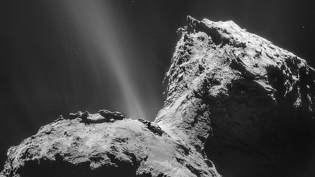 El cometa Churyomov Gerasimenko, visitado por la misión Rosetta de la Agencia Espacial Europea