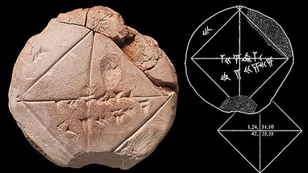 La tableta, el trabajo de un estudiante de la antigua Babilonia