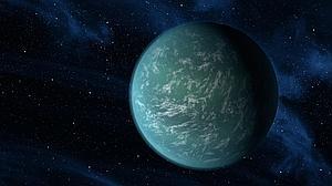 En la ilustración, Kepler 22b, una supertierra casi tres veces más masiva que nuestro planeta