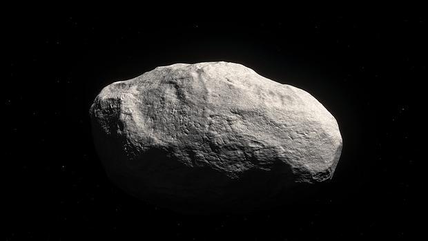 Ilustración del singular cometa rocoso C/2014 S3 (PANSTARRS)