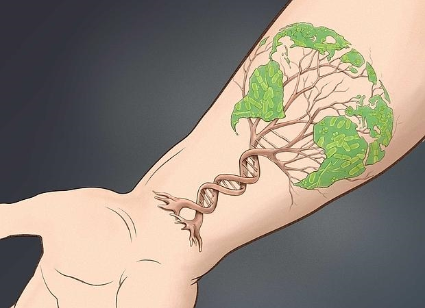 Cada persona tiene su propia firma de formas de vida, hongos, bacterias y virus, viviendo sobre la piel