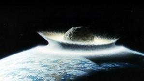 Recreación del impacto de un asteroide en la Tierra