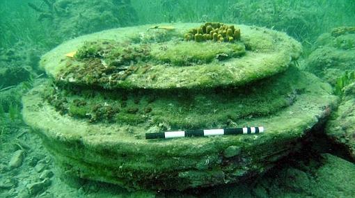 Detalle de una «dolomita», fabricada por bacterias hace millones de años