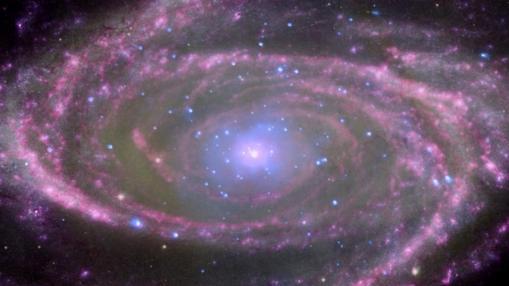 Imagen captada por el telescopio Chandra del agujero negro supermasivo del centro de la galaxia M81