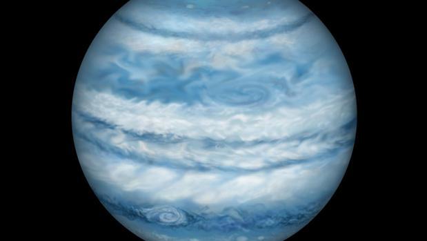 Representación artística de Kepler-1647 b. Consideran que tiene un tamaño y una masa casi idénticas a las de Júpiter