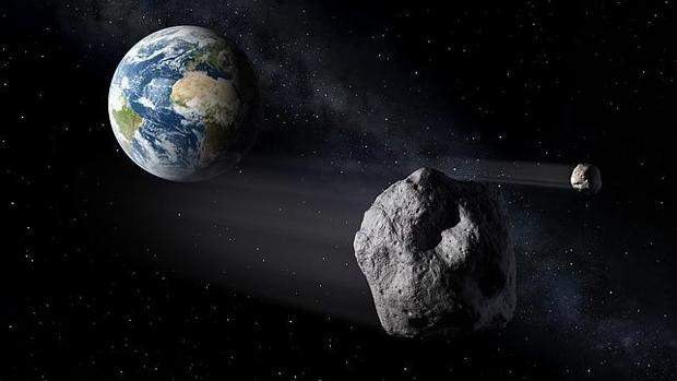 Dos asteroides cerca de la Tierra