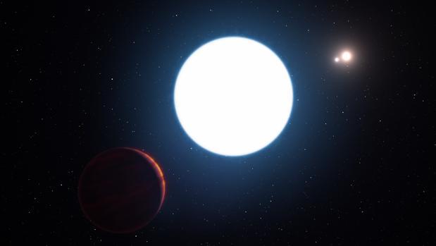 Hallan un sorprendente planeta con tres soles