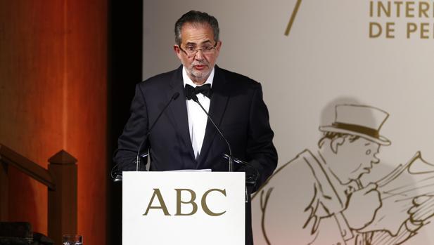 Miguel Henrique Otero, en un discurso en ABC el pasado mes de diciembre