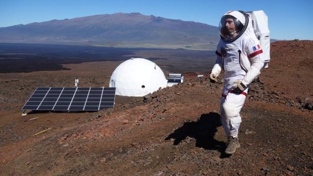 Exterior de la cúpula en Hawái en el que han permanecido aislados los seis científicos durante un año