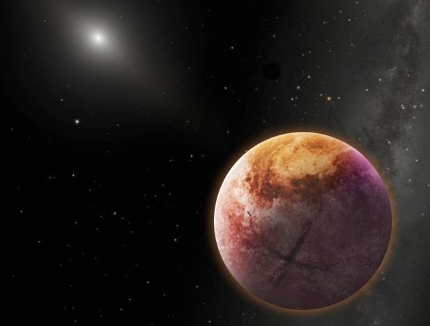 Recreación artística del Planeta X