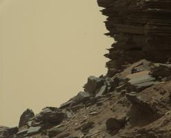 Otra imagen de los montículos de Murray en Marte