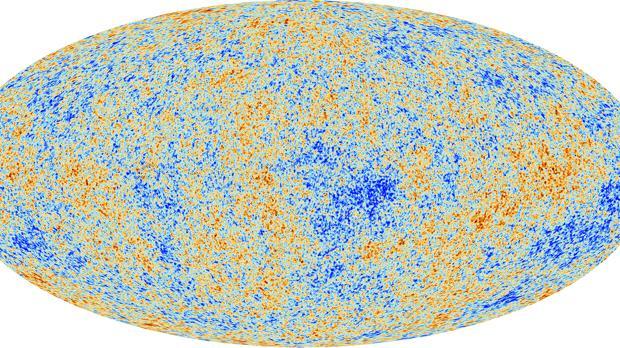 Mapa de la radiación de fondo de microondas (CMB) del Universo, del satélite europeo Planck
