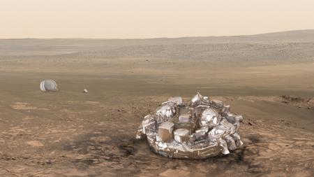 El módulo Schiapparelli, en Marte