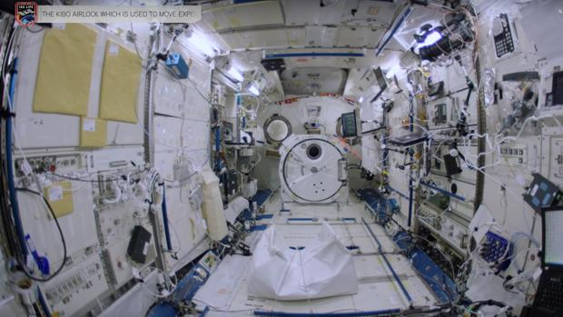 Interior de la Estación Espacial Internacional, en un fragmento del video