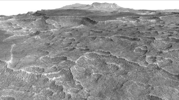 Las formas distintivas de la superficie de Utopia Planitia llevaron a los investigadores a comprobar si había hielo subterráneo