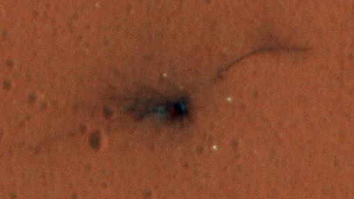 Lugar de impacto del módulo de aterrizaje Schiaparelli, de la ESA