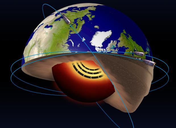 Los datos han sido obtenidos por lo satélites Swarm, de la ESA. Actualmente el campo magnético terrestre se está debilitando y los polos magnéticos se están desplazando