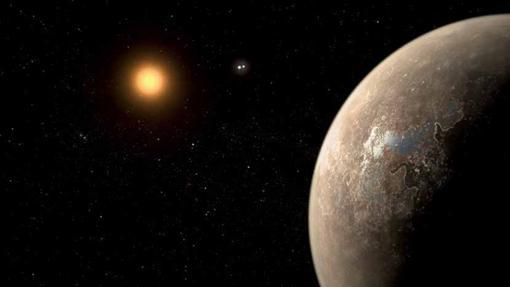 Impresión artística de Próxima b, la potencial Tierra más cercana al Sistema Solar