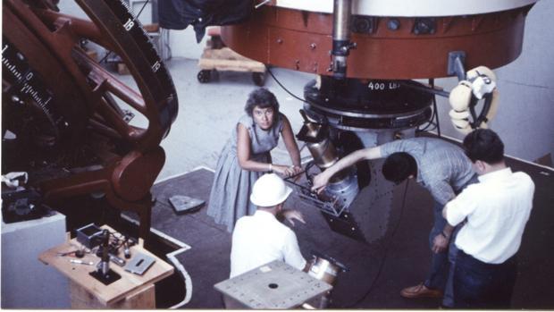 Vera Rubin analizó e investigó más de doscientas galaxias