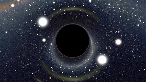 Representación de un agujero negro. Estos cuerpos ocuparán un importante lugar en la actualidad científica
