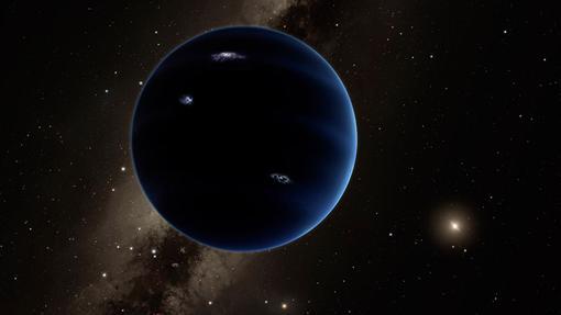 Representación artística del Planeta X, hipotético noveo planeta del Sistema Solar
