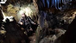 Christian Casseyas, en las cuevas de Goyet