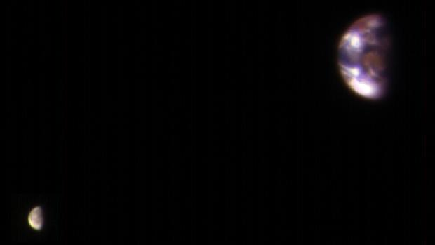 La Tierra y la Luna, fotografiadas por el MRO de la NASA desde Marte