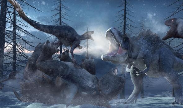 Los dinosaurios murieron en medio del frío y la oscuridad