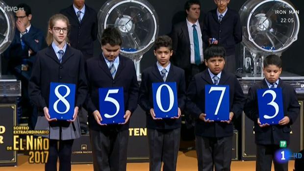 85.073: tercer premio de la Lotería del Niño