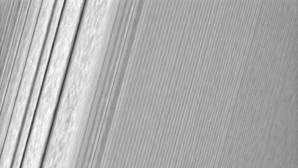 Fotografía del anillo A, a 134.500 km de Saturno