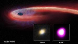Captan la muerte más lenta de una estrella devorada por un monstruoso agujero negro