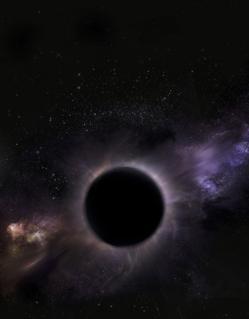 Recreación artística del agujero negro de masa intermedia que puede existir en 47 Tucanae