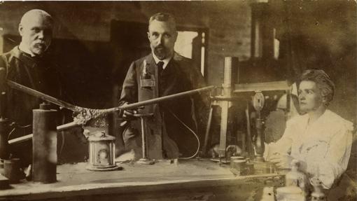 Los esposos Curie y Becquerel