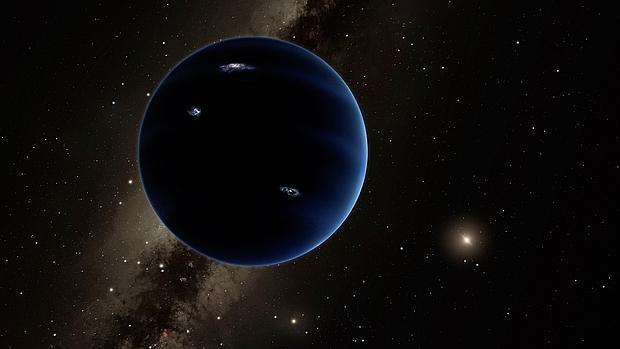 Recreación artística del hipotético Planeta 9