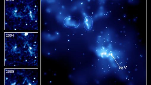 Imagen en rayos X de Sagitario A