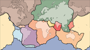 The outer layer of modern Earth is a collection of interlocking rigid plates, as seen in this illustration. These plates grind together, sliding past or dipping beneath one another, giving rise to earthquakes and volcanoes. But new research suggests that plate tectonics did not begin until much later in Earth's history.