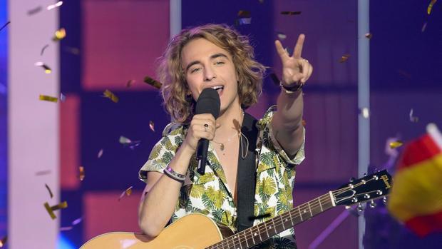 Manel Navaro, este sábado tras ganar «Objetivo Eurovisión»