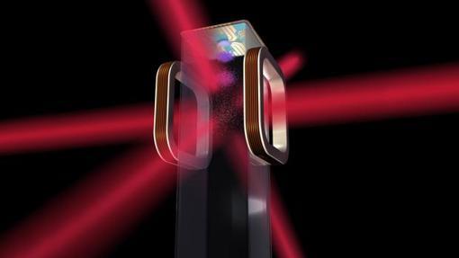 Ilustración del chip atómico donde ocurrirá el fenómeno