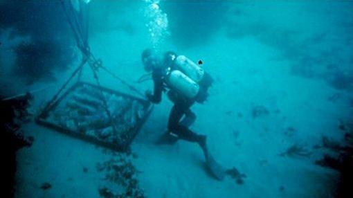 El pecio romano con el plomo fue hallado por un submarinista en 1988 en la costa de Cerdeña