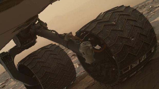 Los daños en la rueda del Curiosity