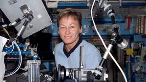 La astronauta Peggy Whitson, a bordo de la estación espacial internacional