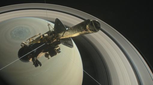 La sonda Cassini explorando Saturno