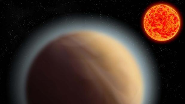 Hallan, por primera vez, una atmósfera rica en agua y metano en un mundo similar a la Tierra